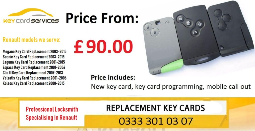 Renault Key Card Replacement